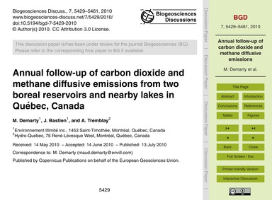Annual Follow-up of Carbon Dioxide and M... by Demarty, M.