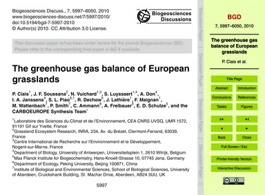 The Greenhouse Gas Balance of European G... by Ciais, P.