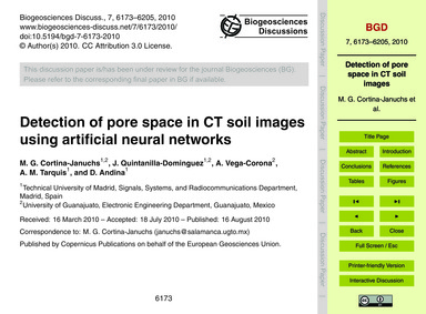 Detection of Pore Space in Ct Soil Image... by Cortina-januchs, M. G.