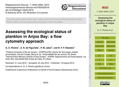 Assessing the Ecological Status of Plank... by Pereira, G. C.