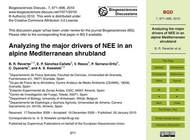 Analyzing the Major Drivers of Nee in an... by Reverter, B. R.