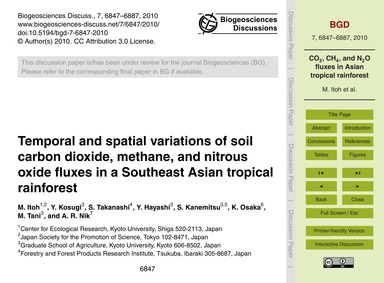 Temporal and Spatial Variations of Soil ... by Itoh, M.