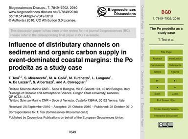 Influence of Distributary Channels on Se... by Tesi, T.