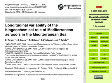 Longitudinal Variability of the Biogeoch... by Ternon, E.