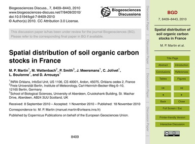 Spatial Distribution of Soil Organic Car... by Martin, M. P.