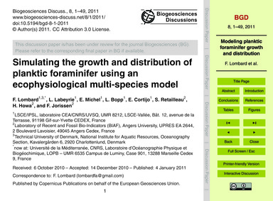 Simulating the Growth and Distribution o... by Lombard, F.