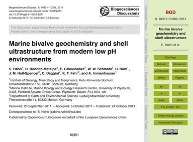 Marine Bivalve Geochemistry and Shell Ul... by Hahn, S.