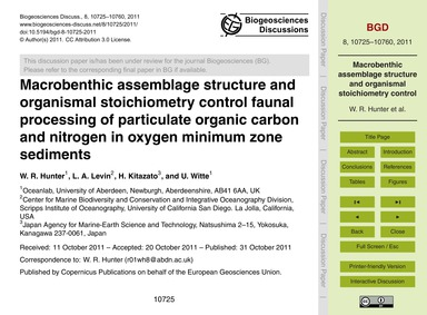 MacRobenthic Assemblage Structure and Or... by Hunter, W. R.