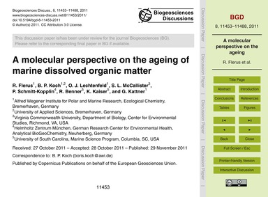 A Molecular Perspective on the Ageing of... by Flerus, R.