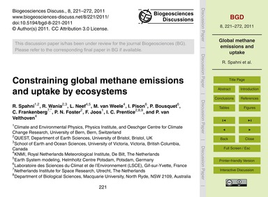 Constraining Global Methane Emissions an... by Spahni, R.