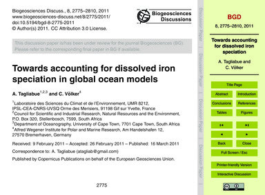 Towards Accounting for Dissolved Iron Sp... by Tagliabue, A.