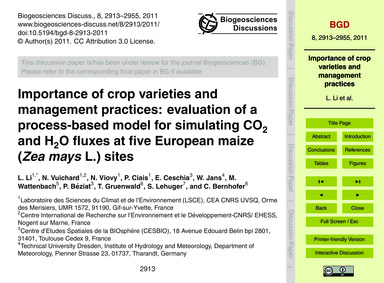 Importance of Crop Varieties and Managem... by Li, L.