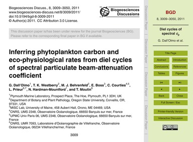 Inferring Phytoplankton Carbon and Eco-p... by Dall'Olmo, G.