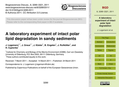 A Laboratory Experiment of Intact Polar ... by Logemann, J.