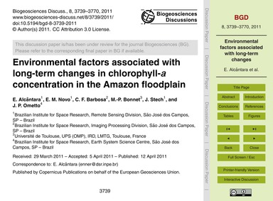 Environmental Factors Associated with Lo... by Alcântara, E.