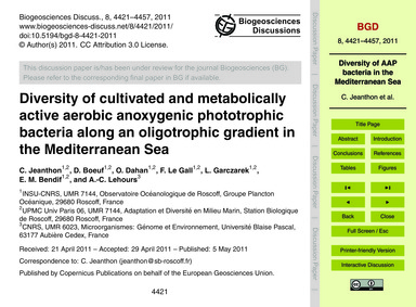 Diversity of Cultivated and Metabolicall... by Jeanthon, C.