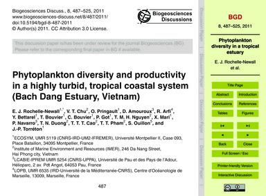 Phytoplankton Diversity and Productivity... by Rochelle-newall, E. J.