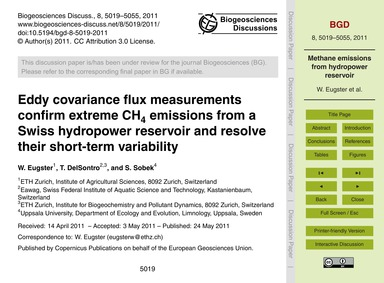 Eddy Covariance Flux Measurements Confir... by Eugster, W.