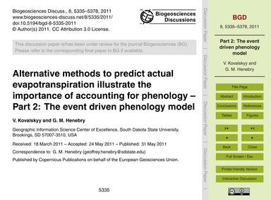 Alternative Methods to Predict Actual Ev... by Kovalskyy, V.