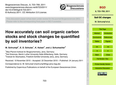 How Accurately Can Soil Organic Carbon S... by Schrumpf, M.