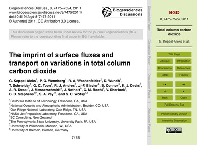 The Imprint of Surface Fluxes and Transp... by Keppel-aleks, G.
