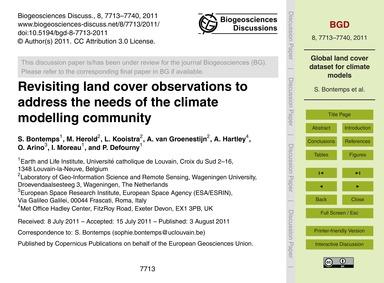Revisiting Land Cover Observations to Ad... by Bontemps, S.