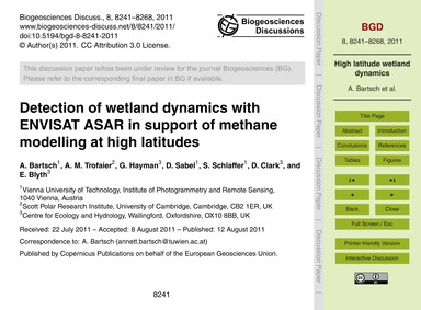 Detection of Wetland Dynamics with Envis... by Bartsch, A.