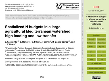 Spatialized N Budgets in a Large Agricul... by Lassaletta, L.