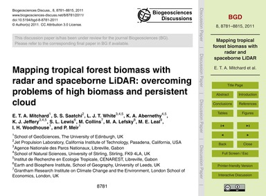 Mapping Tropical Forest Biomass with Rad... by Mitchard, E. T. A.