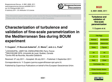 Characterization of Turbulence and Valid... by Cuypers, Y.