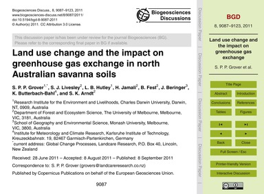 Land Use Change and the Impact on Greenh... by Grover, S. P. P.