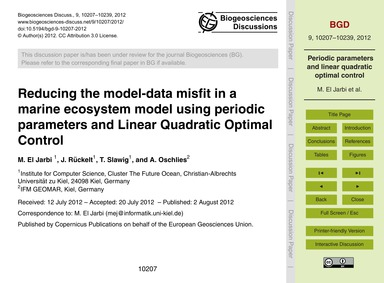 Reducing the Model-data Misfit in a Mari... by El Jarbi, M.