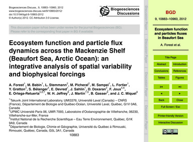 Ecosystem Function and Particle Flux Dyn... by Forest, A.