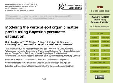 Modeling the Vertical Soil Organic Matte... by Braakhekke, M. C.
