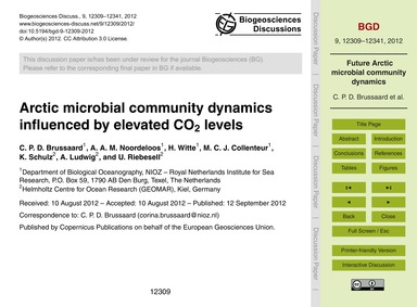 Arctic Microbial Community Dynamics Infl... by Brussaard, C. P. D.