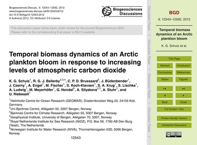 Temporal Biomass Dynamics of an Arctic P... by Schulz, K. G.