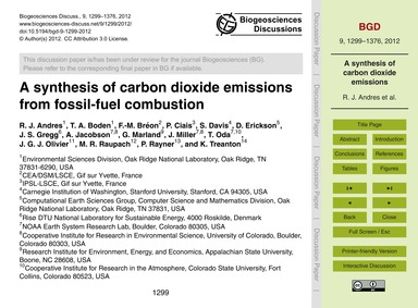 A Synthesis of Carbon Dioxide Emissions ... by Andres, R. J.