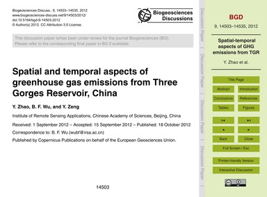 Spatial and Temporal Aspects of Greenhou... by Zhao, Y.