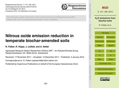 Nitrous Oxide Emission Reduction in Temp... by Felber, R.