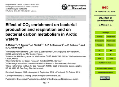 Effect of Co2 Enrichment on Bacterial Pr... by Motegi, C.