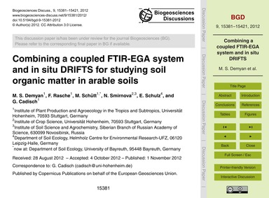 Combining a Coupled Ftir-ega System and ... by Demyan, M. S.