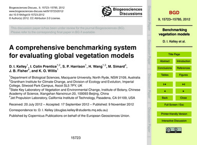A Comprehensive Benchmarking System for ... by Kelley, D. I.