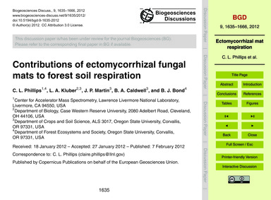 Contributions of Ectomycorrhizal Fungal ... by Phillips, C. L.