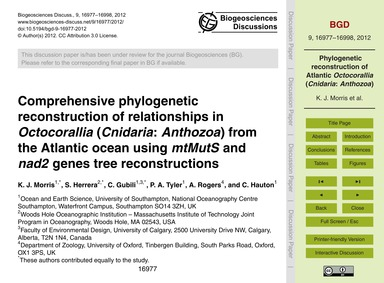 Comprehensive Phylogenetic Reconstructio... by Morris, K. J.