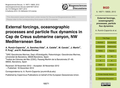 External Forcings, Oceanographic Process... by Rumín-caparrós, A.
