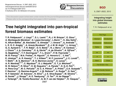 Tree Height Integrated Into Pan-tropical... by Feldpausch, T. R.