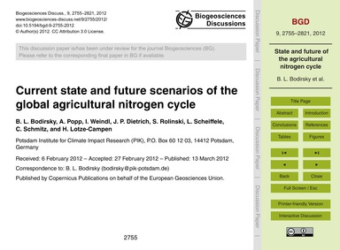 Current State and Future Scenarios of th... by Bodirsky, B. L.
