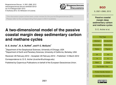 A Two-dimensional Model of the Passive C... by Archer, D. E.