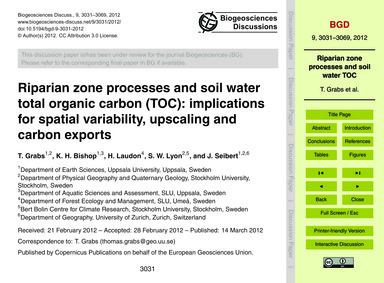 Riparian Zone Processes and Soil Water T... by Grabs, T.
