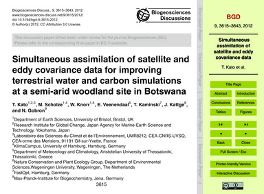 Simultaneous Assimilation of Satellite a... by Kato, T.
